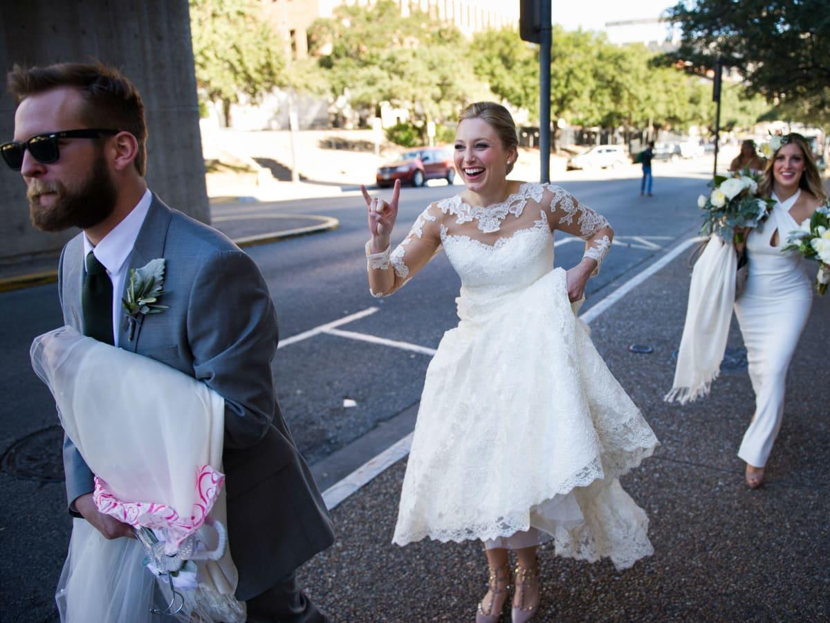Katie Van Dyk Ben Nelson real wedding-UT