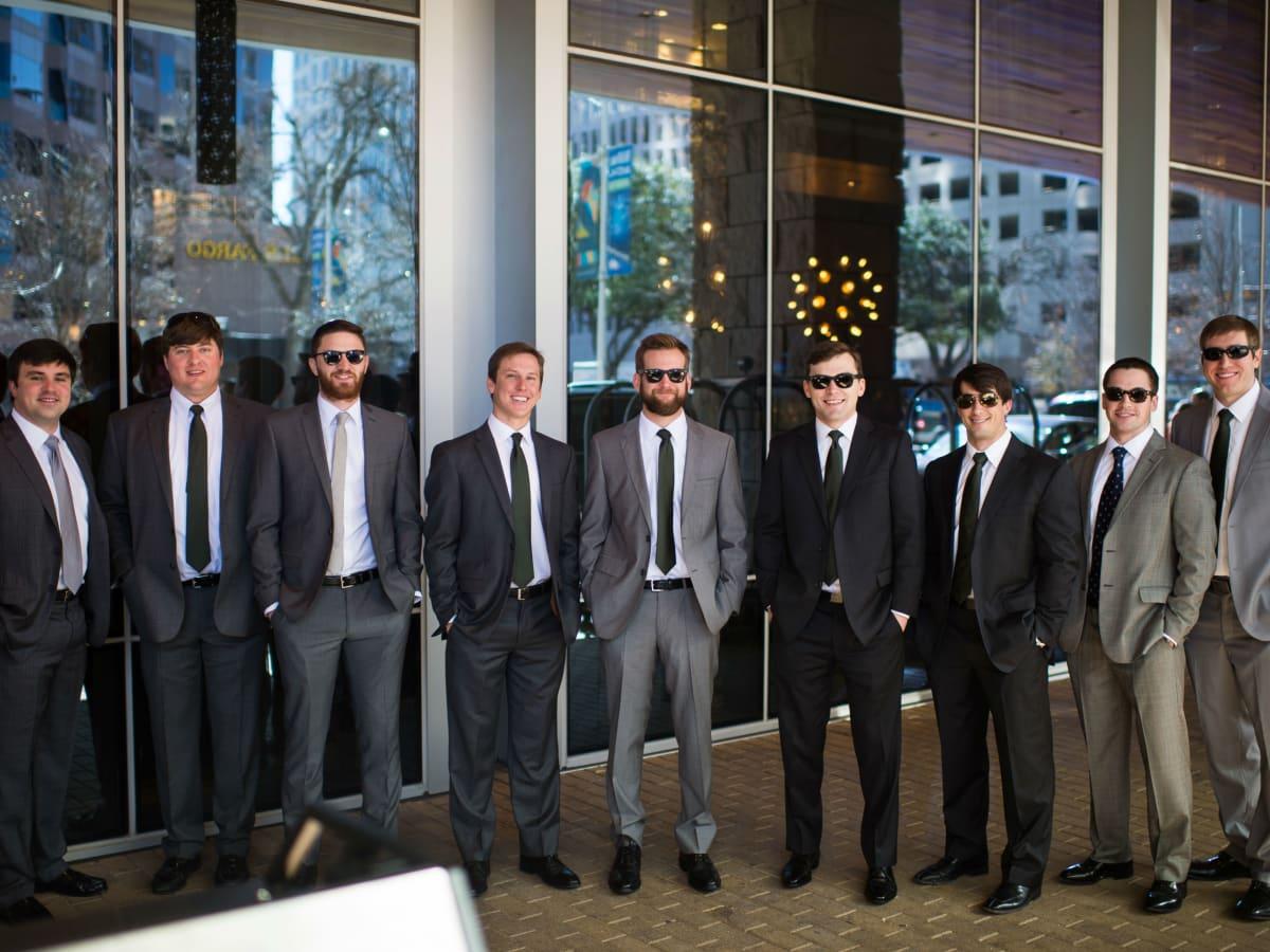 Katie Van Dyk Ben Nelson real wedding-groomsmen