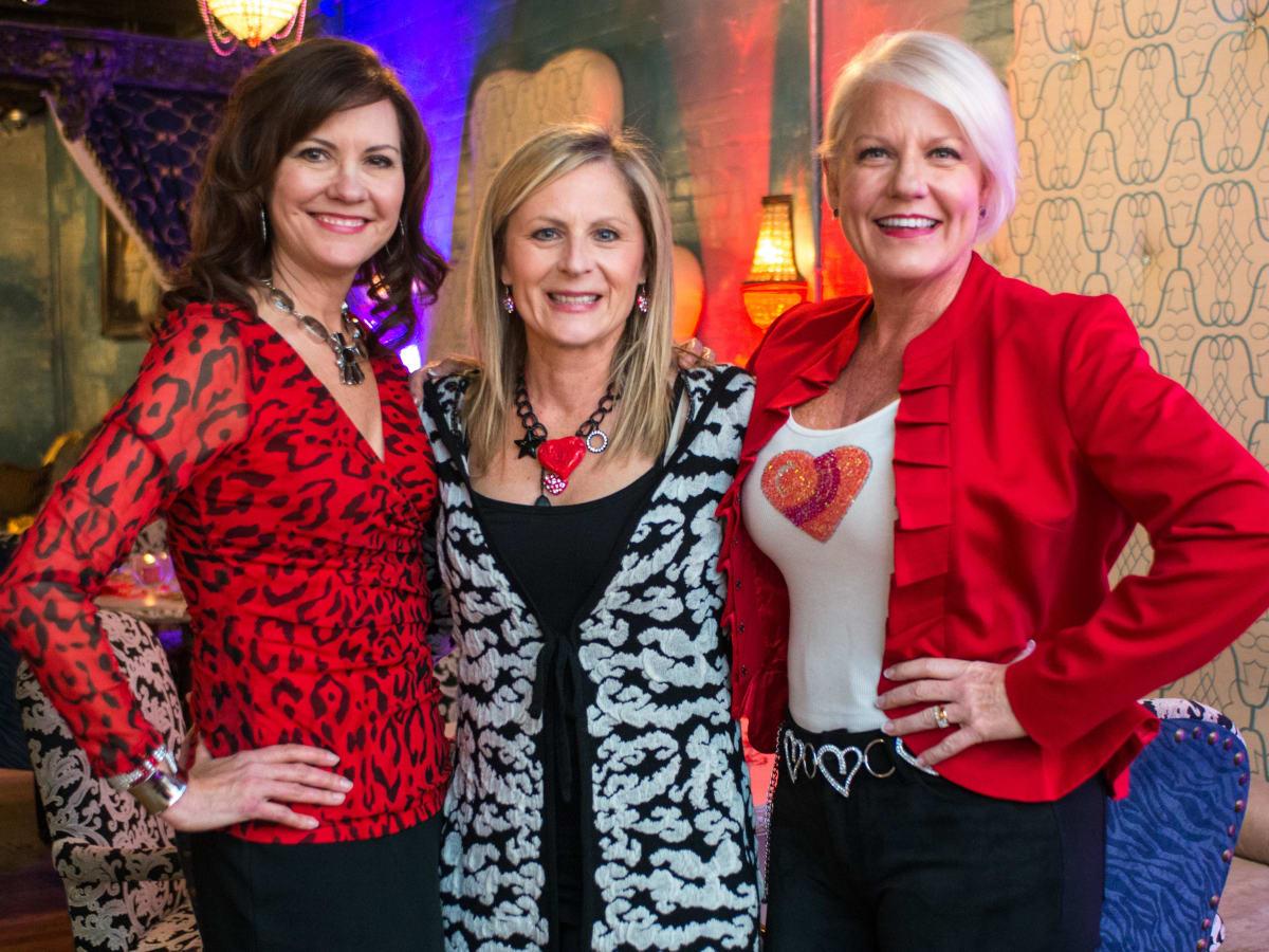 Houston Sweethearts, Feb. 2016, Angie Roberts, Robin Spring, & Heidi Olson