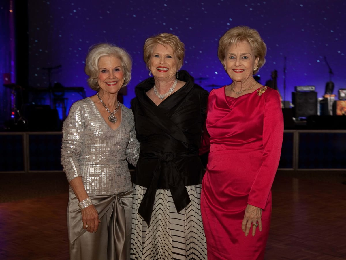University of St. Thomas Mardi Gras, Feb. 2016,  Shelley Tortorice, Ginger Blanton, Annette Strake