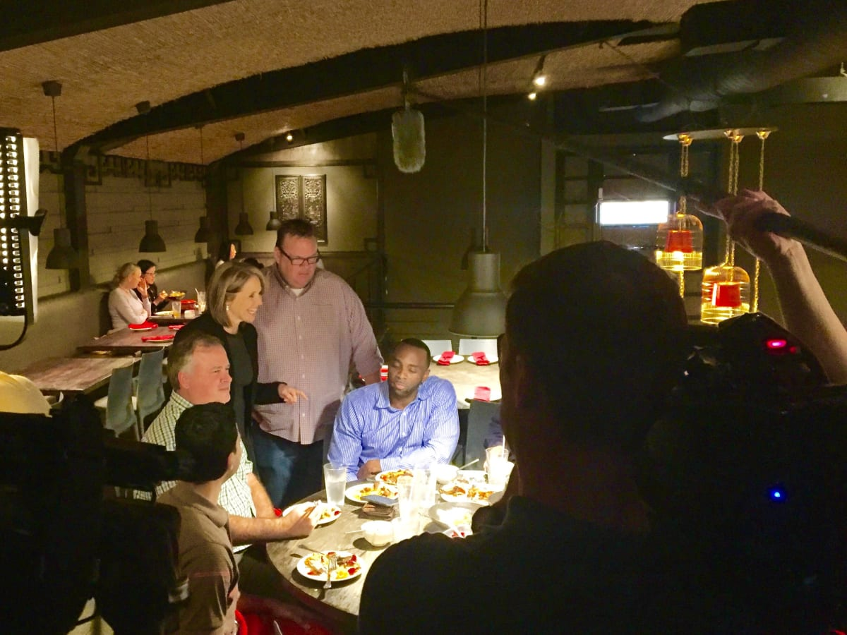 Katie Couric, Chris Shepherd at Mala Sichuan , Feb. 2016