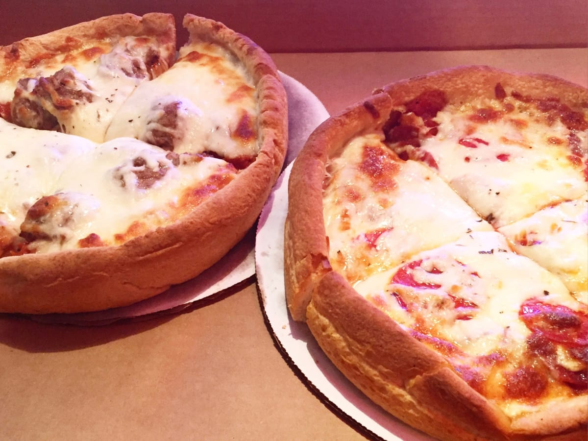 Gelazzi Connie's deep dish pizza