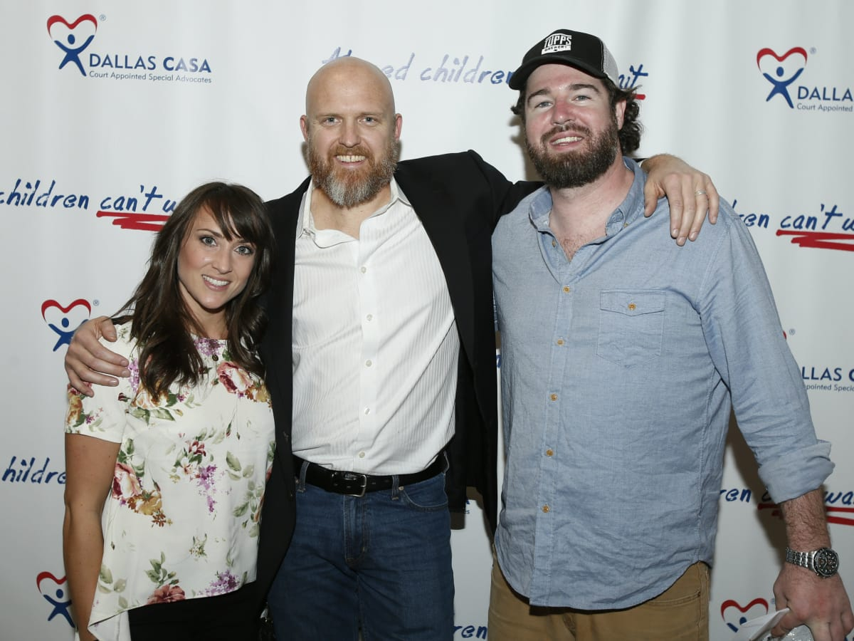 Chad Frymire (in the middle) Katie Baker & Chris Lewis with Tupps Brewery