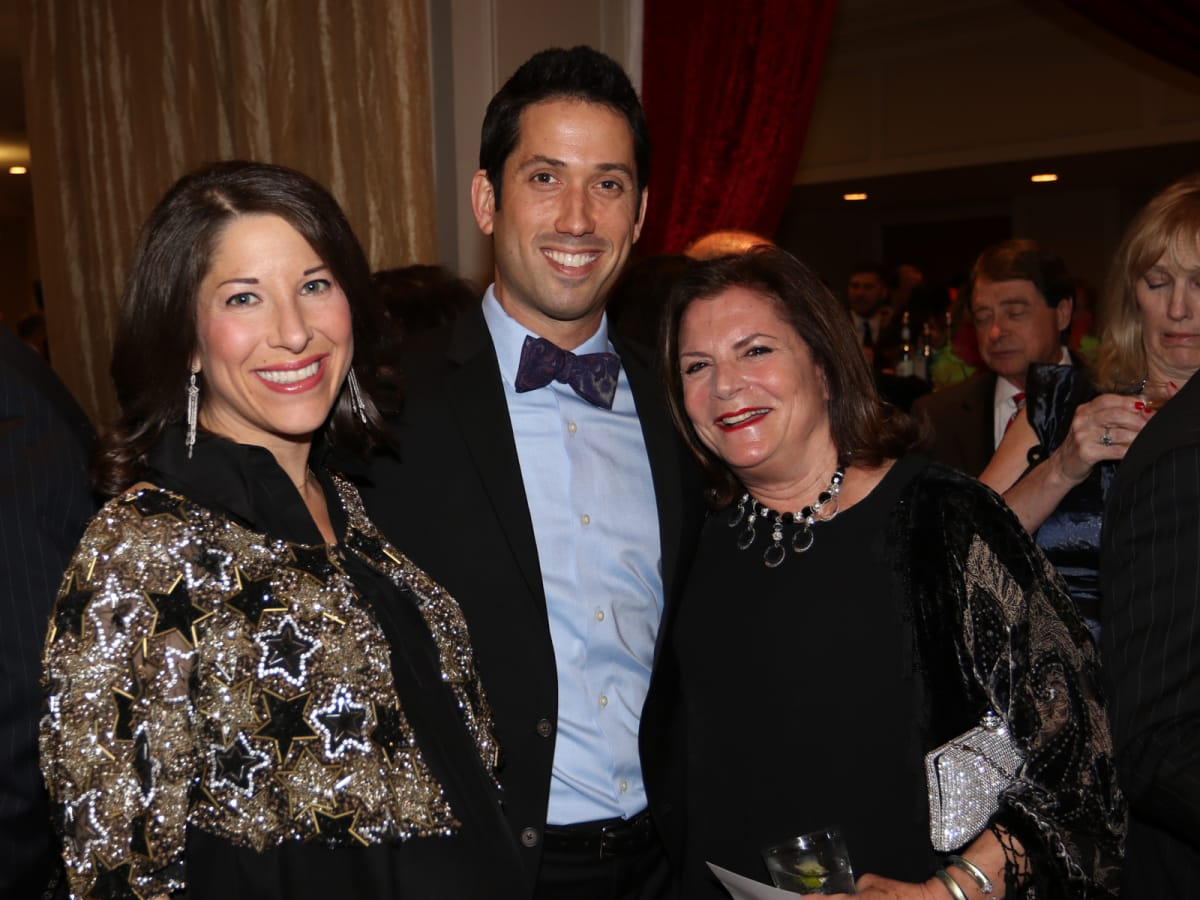 Seven Acres gala, Feb. 2016, Esther Freedman, Doug Freedman, Lynn Sembler Dawson