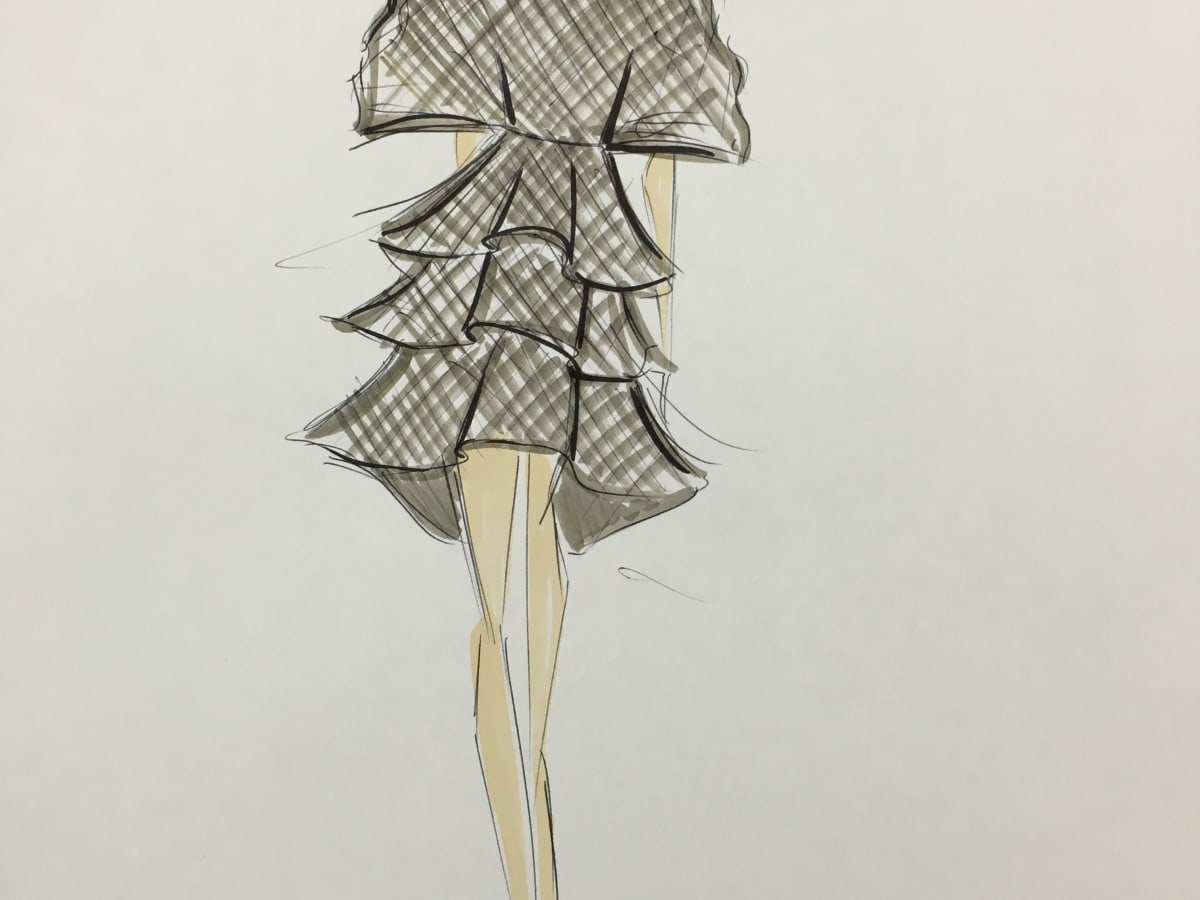 Christian Siriano fall 2016 sketch