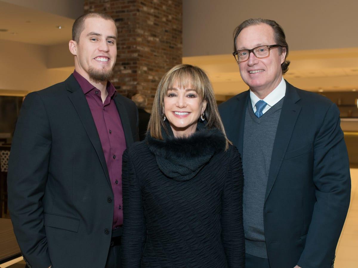 Astros Diamond Gala, Jan. 2016, Ken Giles, Janet Gurwitch, Ron Frankln