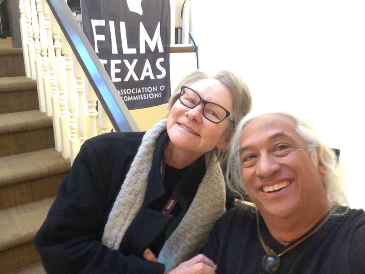 Jane Howze, Ben DeSoto at Texas Film reception at Sundance Film Festival