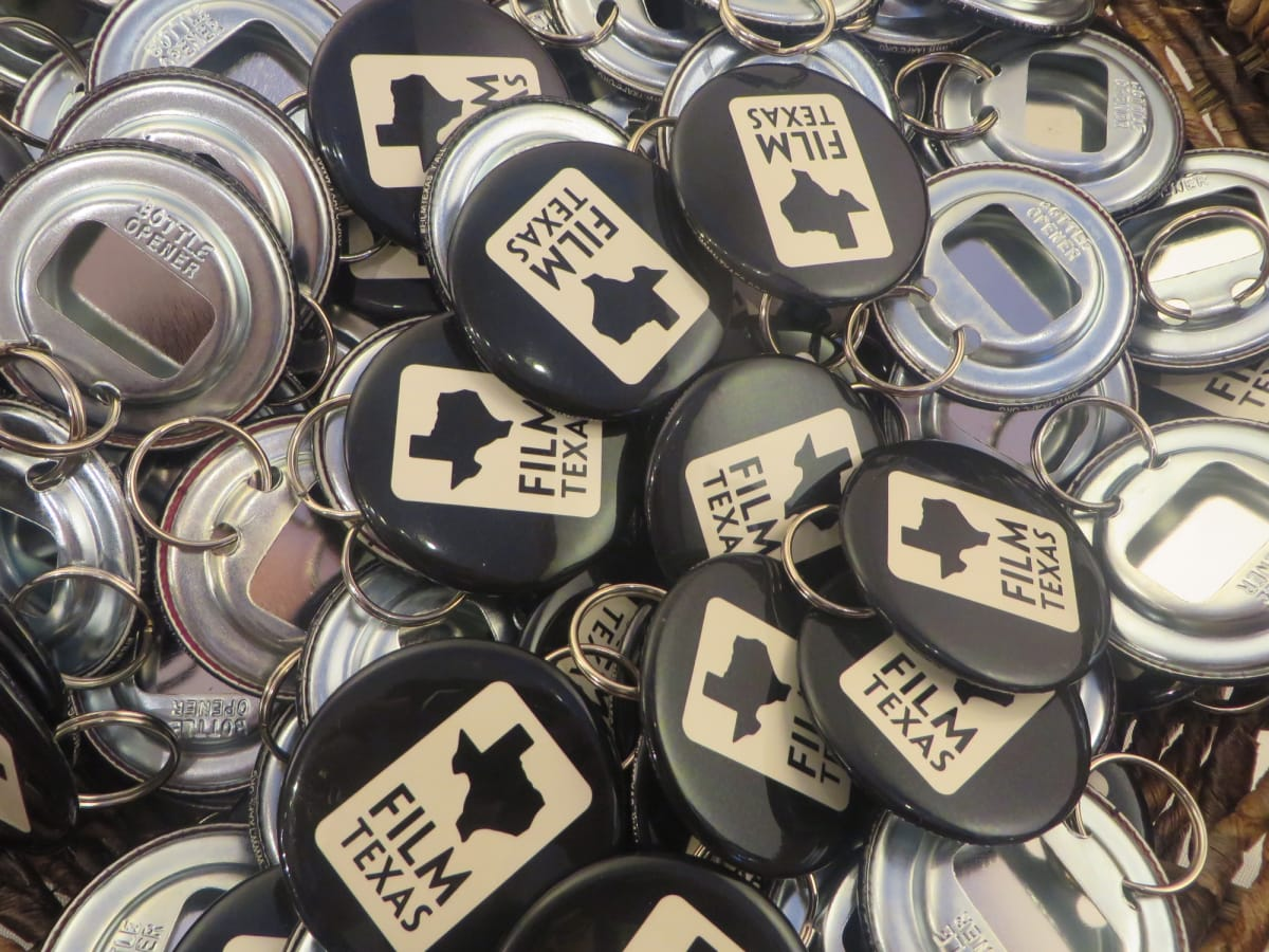 Film Texas bottle openers at Sundance Film Festival reception