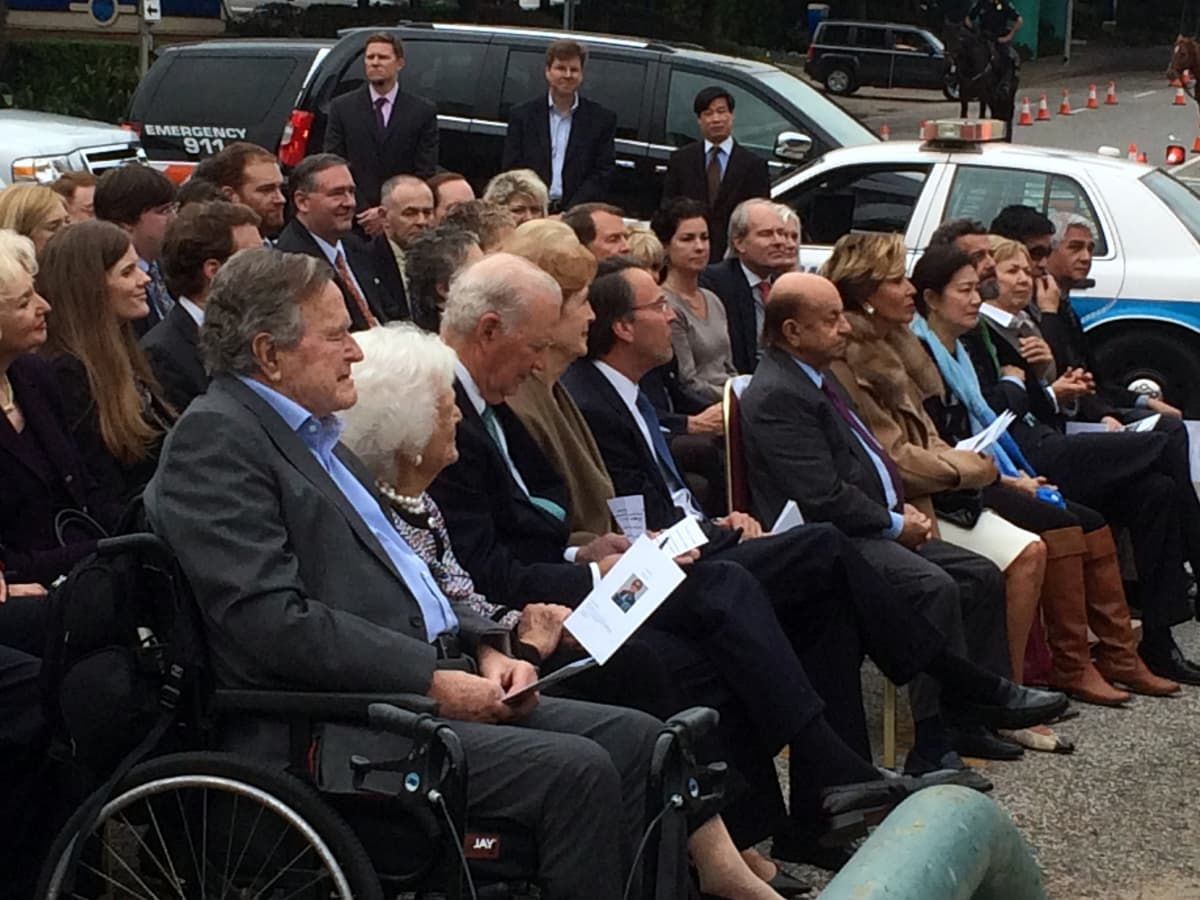 Houston, Mosbacher Bridge launch event, January 2016, President George Bush, Barbara Bush
