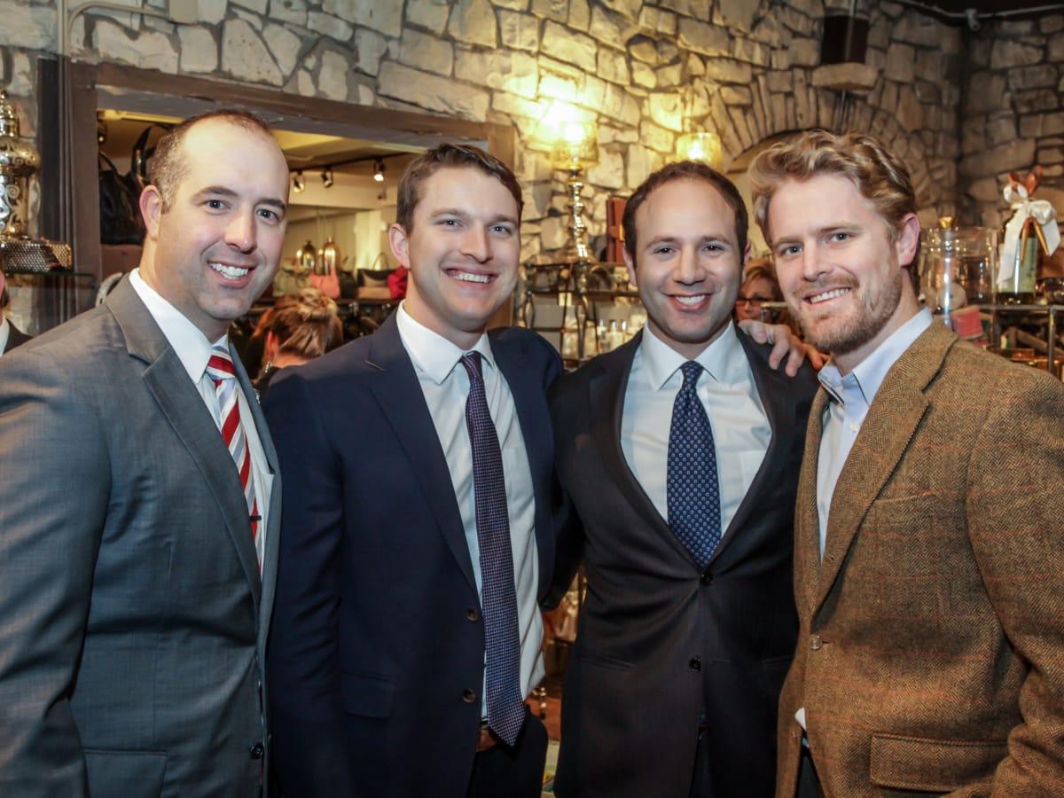 Ben Rose fundraiser Andrew Cobos, Patrick Yarborough, Ben Rose, Francis Nugent