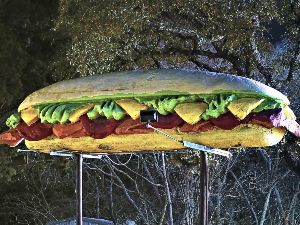 Thundercloud Subs giant sandwich sculpture