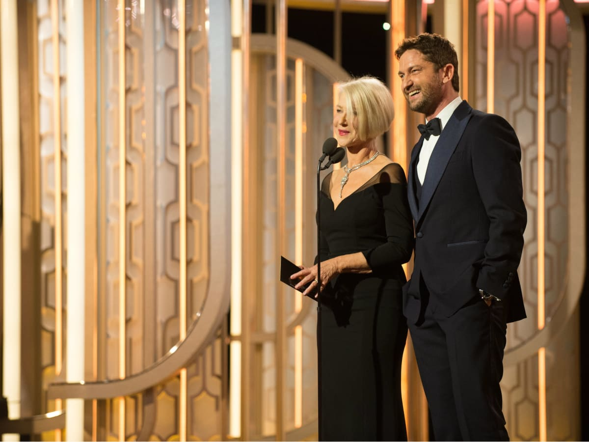 Helen Mirren and Gerald Butler at Golden Globe Awards