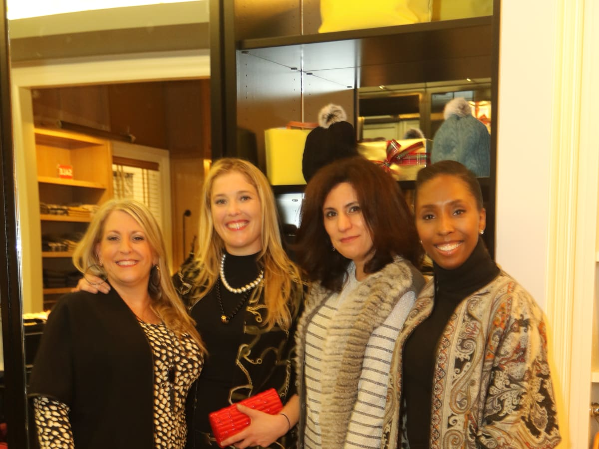 News, Ellevate Network party, Dec. 2015, Chrissy Decuir, Jennifer Roosth, Susan Jaber, Jana Houston.