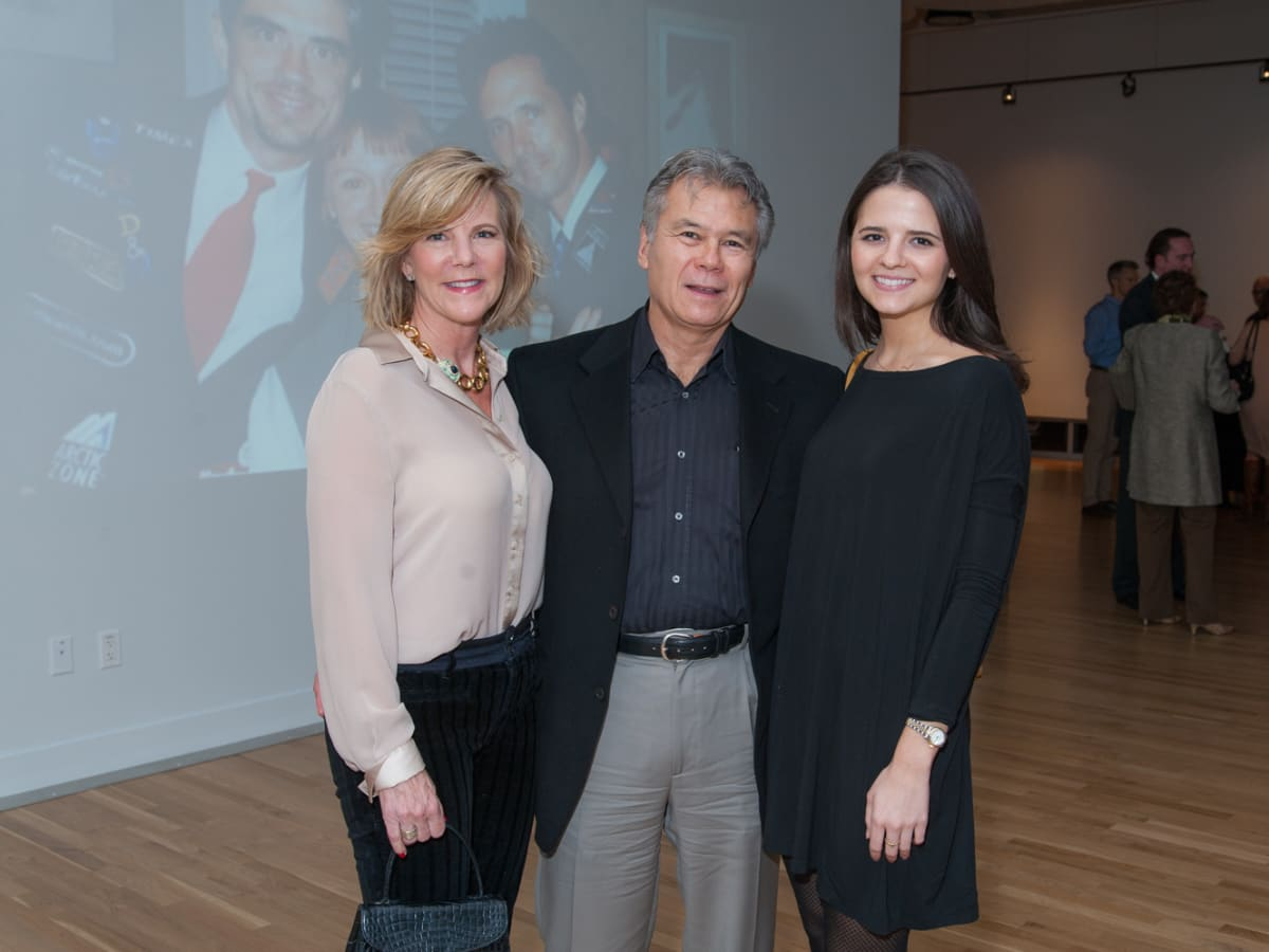 News, DiverseWorks MATCH party, Dec. 2015 Dawn Gervais, Richard Gervais, Brooke Forrest