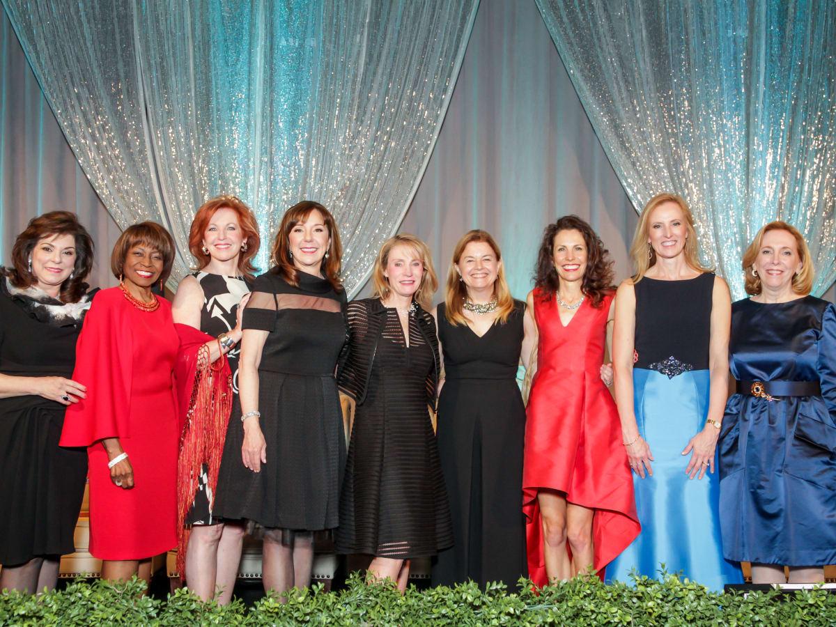 News, Greater Houston Women's Chamber of Commerce Gala, Dec. 2015, Laura Ward, Polly Turner, Nancy Strohmer, Elizabeth Stein, June Ressler, Dr. Laura Petersen, Gina Luna, Dr. Kelly K. Hunt, Susan Bischoff