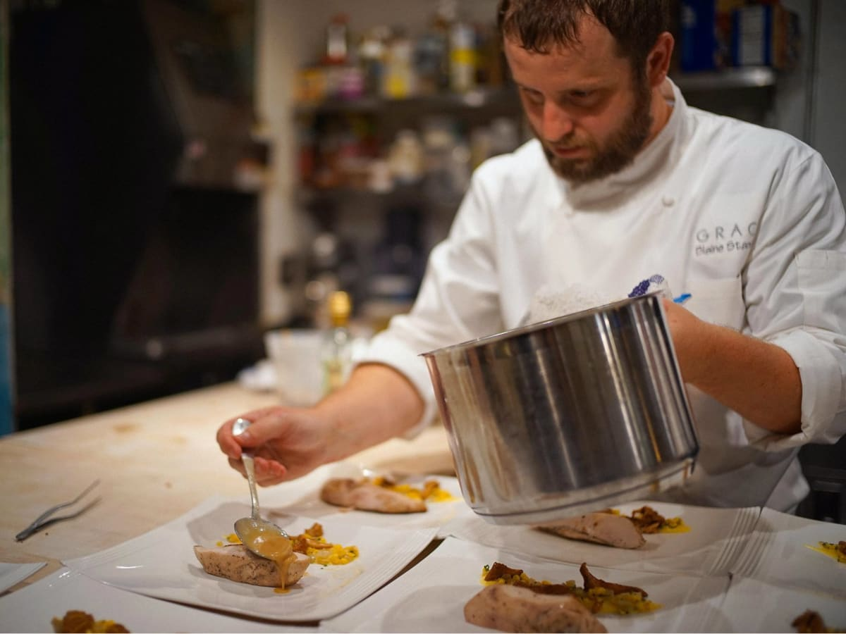 Chef Blaine Staniford of Grace restaurant in Fort Worth