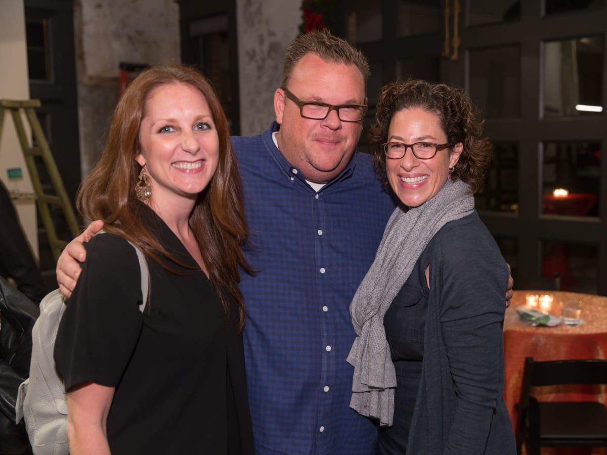 News, Laura Spanjian party, Dec. 2015, Lindsey Brown, Chris Shepherd, Laura Spanjian