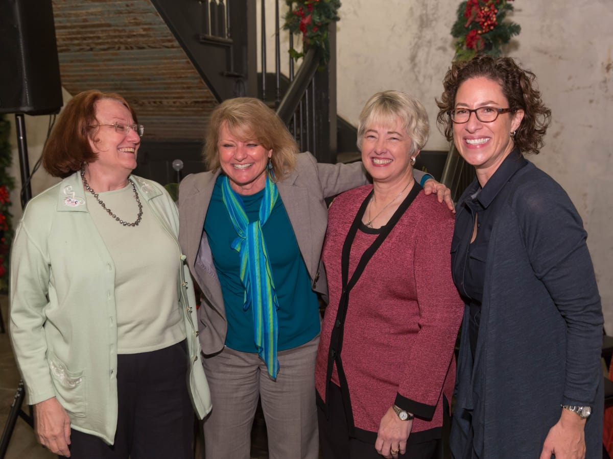 News, Laura Spanjian farewell, Dec. 2015, Kathy Hubbard, Susan Christian, Annise Parker, Laura Spanjian