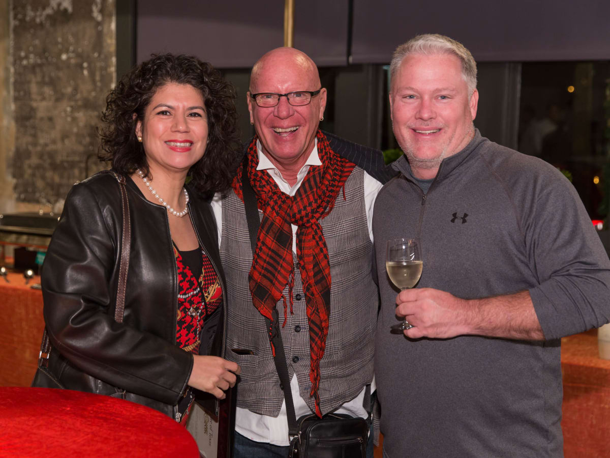 News, Lauren Spanjian party, Dec. 2015, State Rep. Carol Alvarado, Kelly Gale Amen, Greg Bess