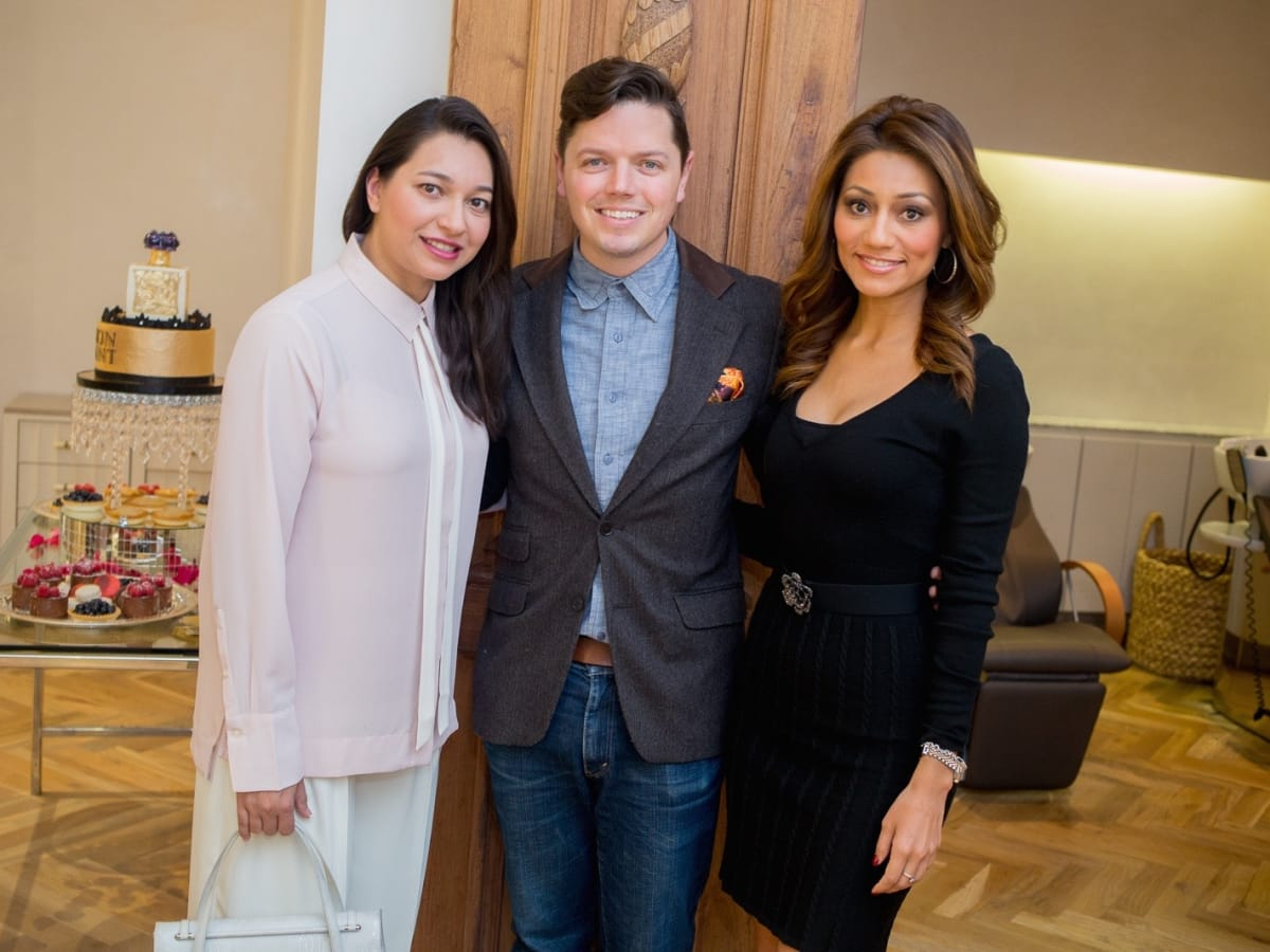 News, Roja Dove event, Dec. 2015, Sameera Farida, David Peck, Rita Garcia