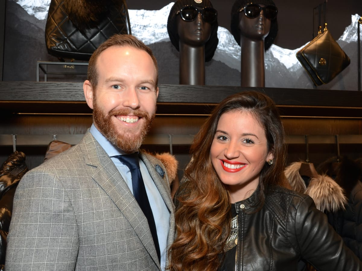 News, Moncler opening, Dec. 2015, Chasen Hutchens, Marianna Vicente