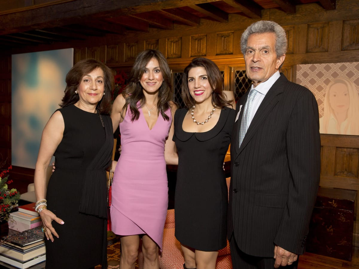 TCH Ambassadors holiday party Guity Kashani, Heidi Kashani, Neekie Kashani, Manuchehr Kashani