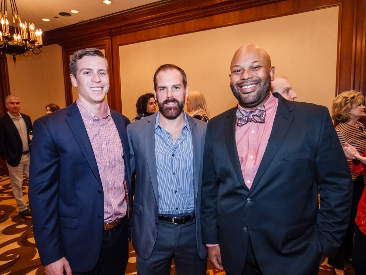 World AIDS Day luncheon Luke Moore, Mike Holloman, Ashton P. Woods