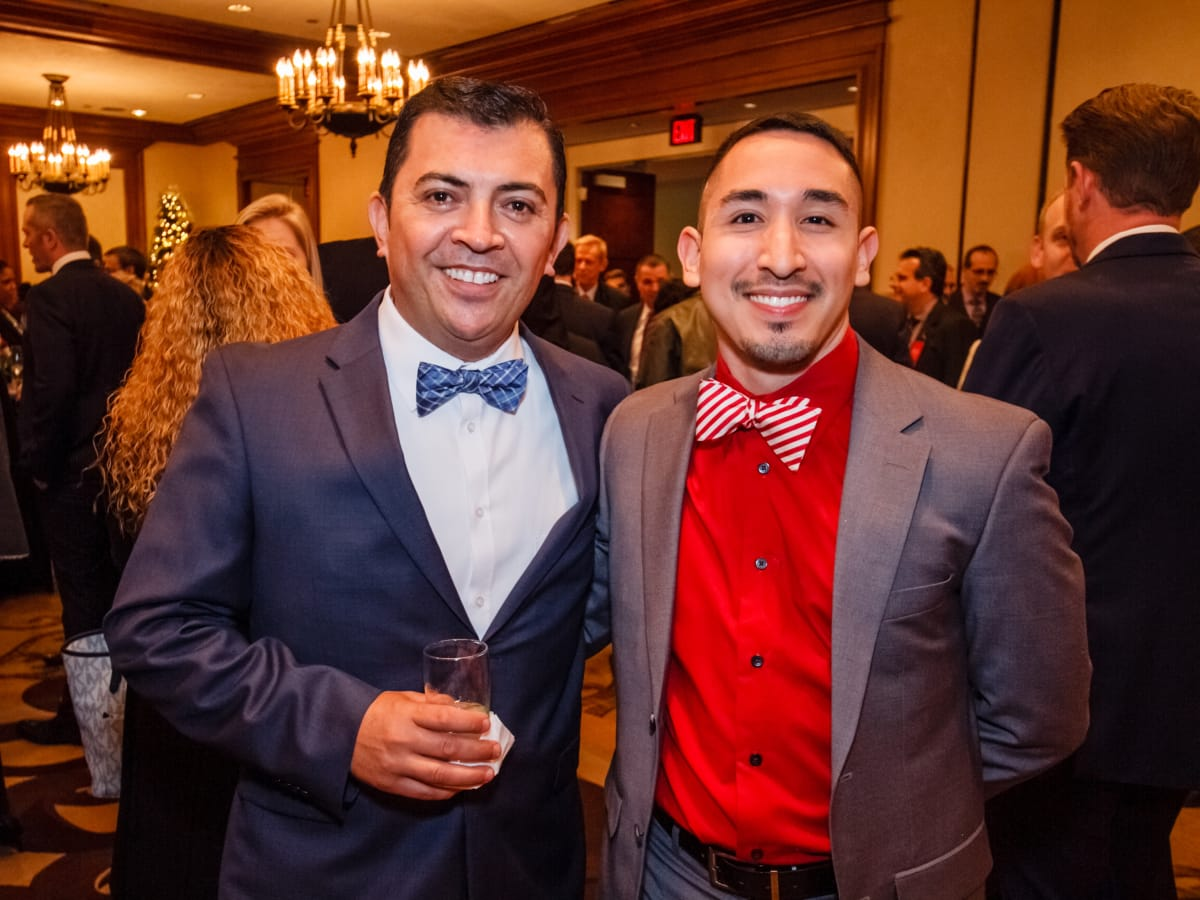 World AIDS Day luncheon Arturo Rodriguez, Aaron Flores