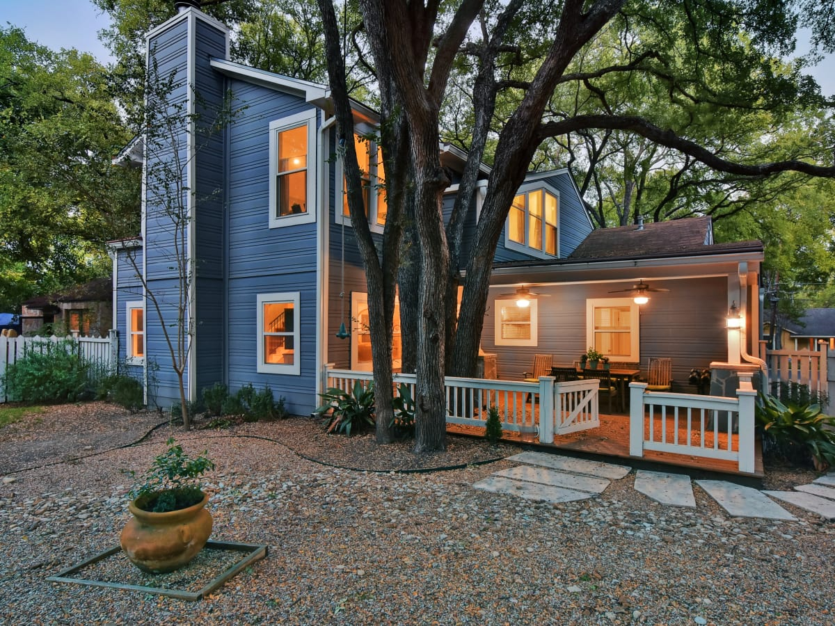 West Austin home house 2200 Sharon Lane exterior backyard