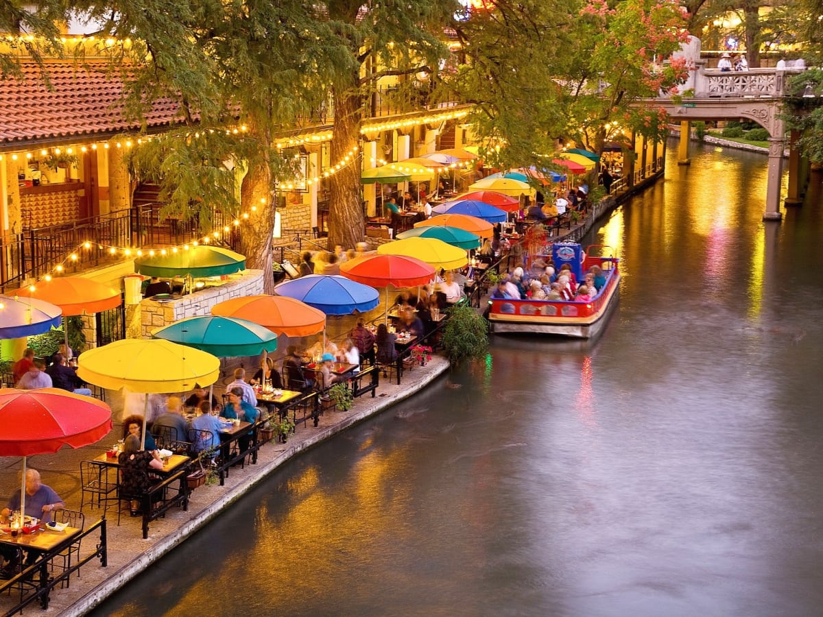 San Antonio River Walk at dusk