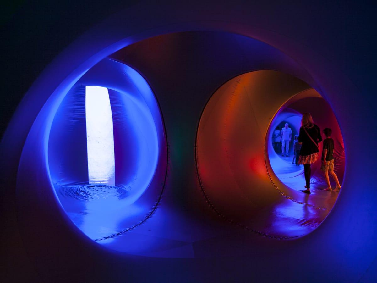 Architects of Air Luminarium Pentalum Long Center blue 2015