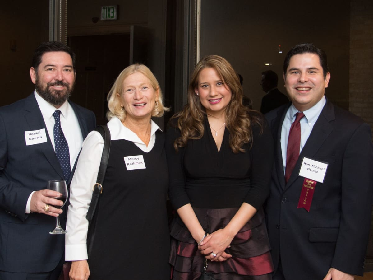 News, Shelby, Houston Bar Harvest Party, Daniel Guerra, Marcy Rothman, Diana Gomez and Judge Michael Gomez