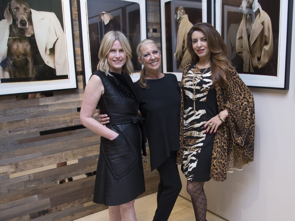 Max Mara William Wegman event Kelly Kavaler, Lora Chivers and Parissa Mohajer