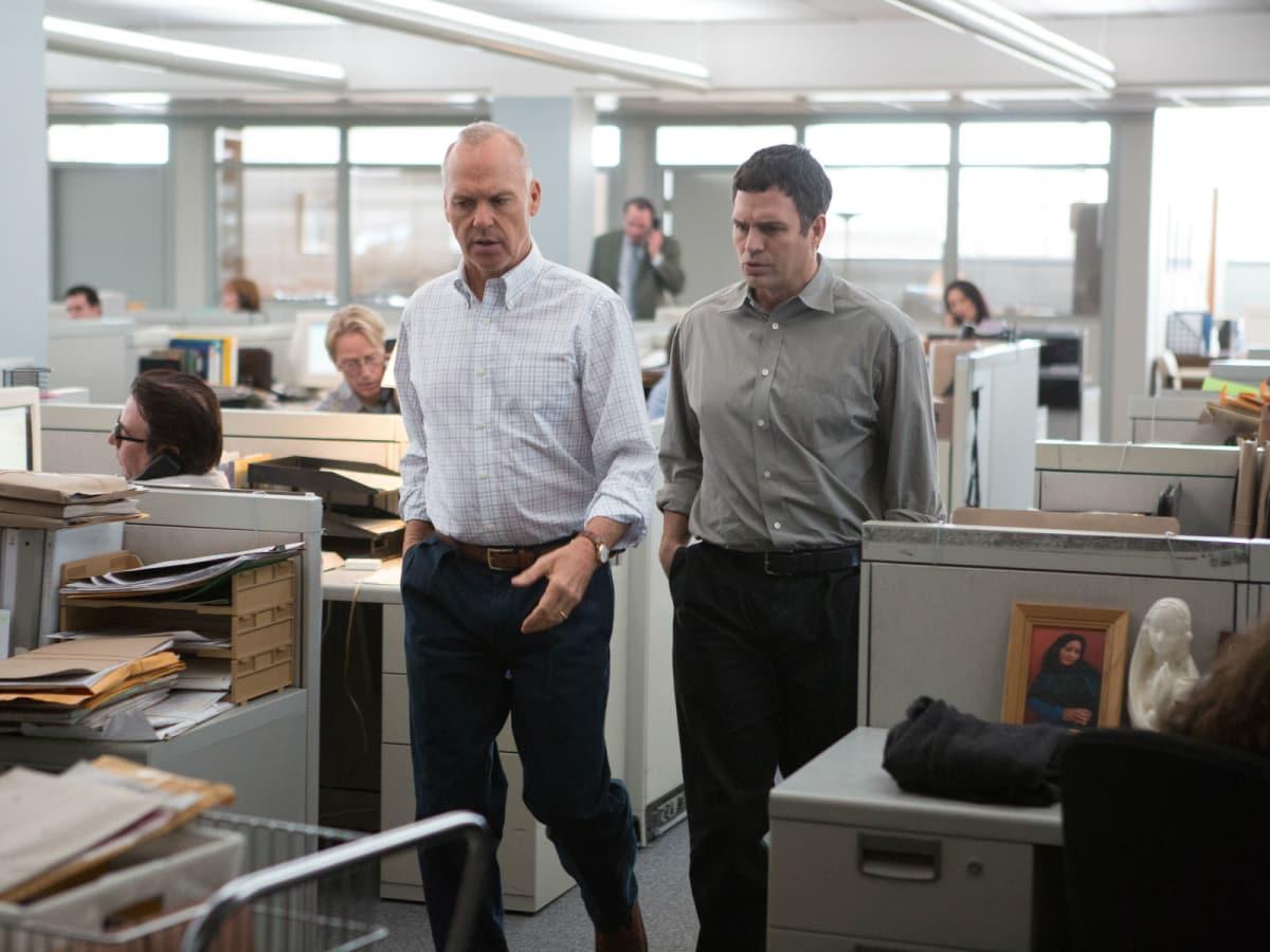 Michael Keaton and Mark Ruffalo in Spotlight