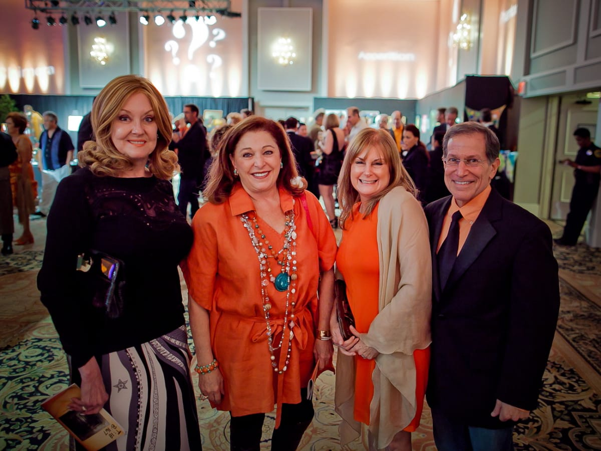 Orange Show Gala Myra Wilson, Suzie Simons, Nancy and Steve Reader.