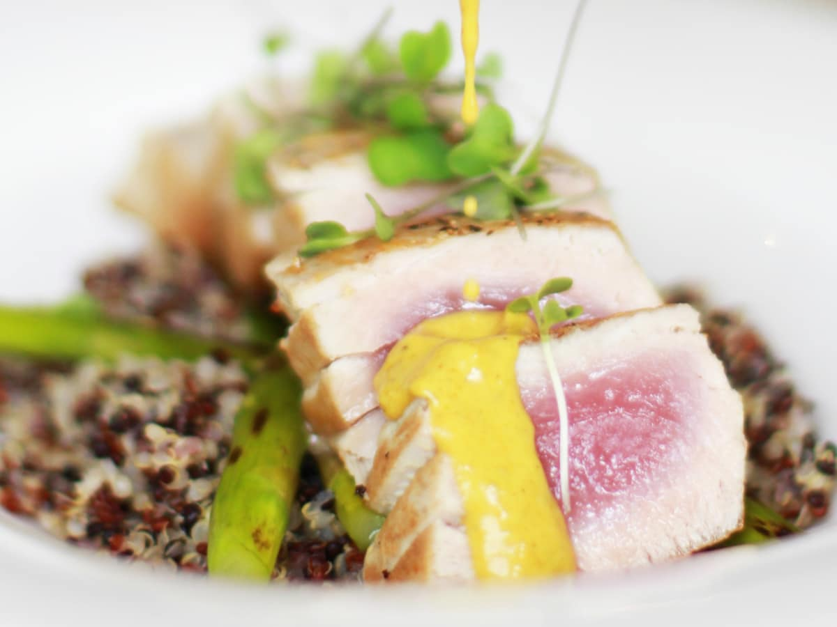 Lake Austin Spa Resort food tuna quinoa 2015