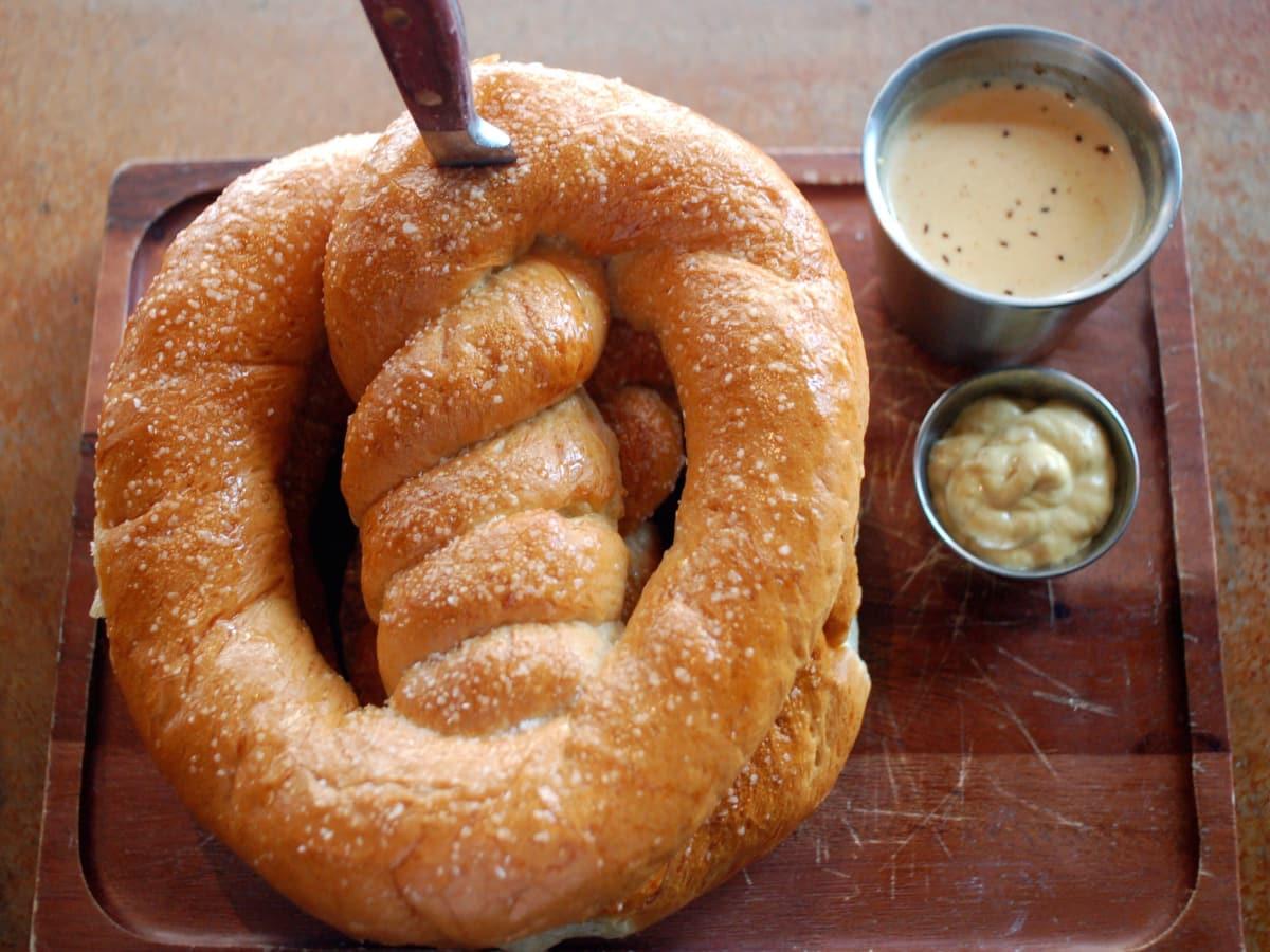 Bowl & Barrel pretzel