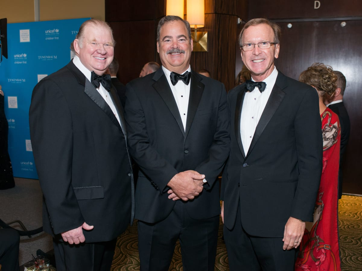 News, Shelby, UNICEF gala, Nov. 2015, Paul Somerville, Cal McNair, Neil Bush