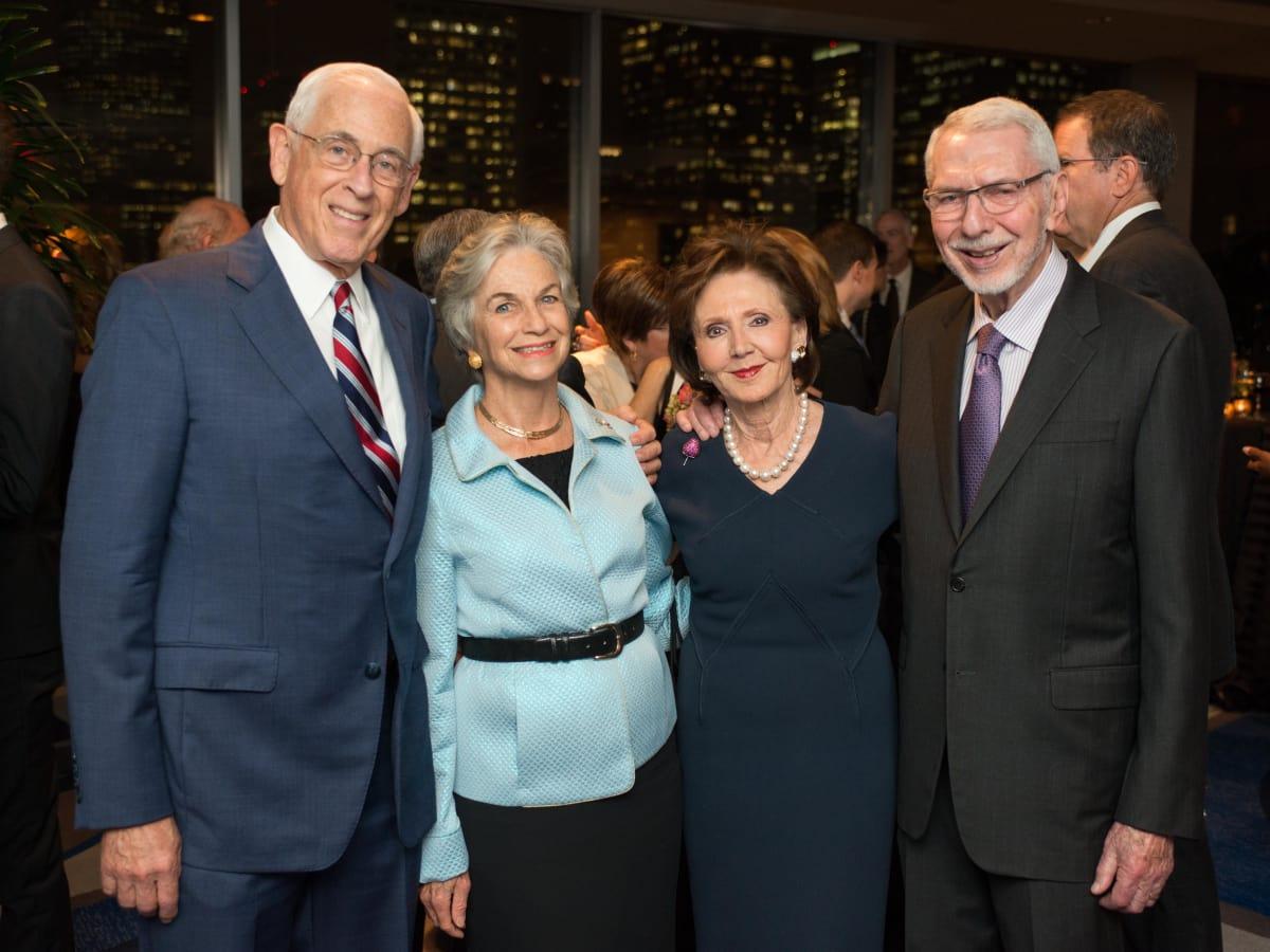 News, Shelby, MD Anderson Living Legend, Nov. 2015, Dr. John Mendelsohn, Anne Mendelsohn, Cyvia Wolff, Melvyn Wolff