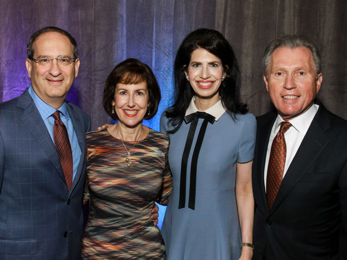 News, Shelby, Holocaust museum luncheon, Nov. 2015,        Co-chairs Michael and Carol Goldberg, Kelli Cohen Fein and Martin Fein.jp