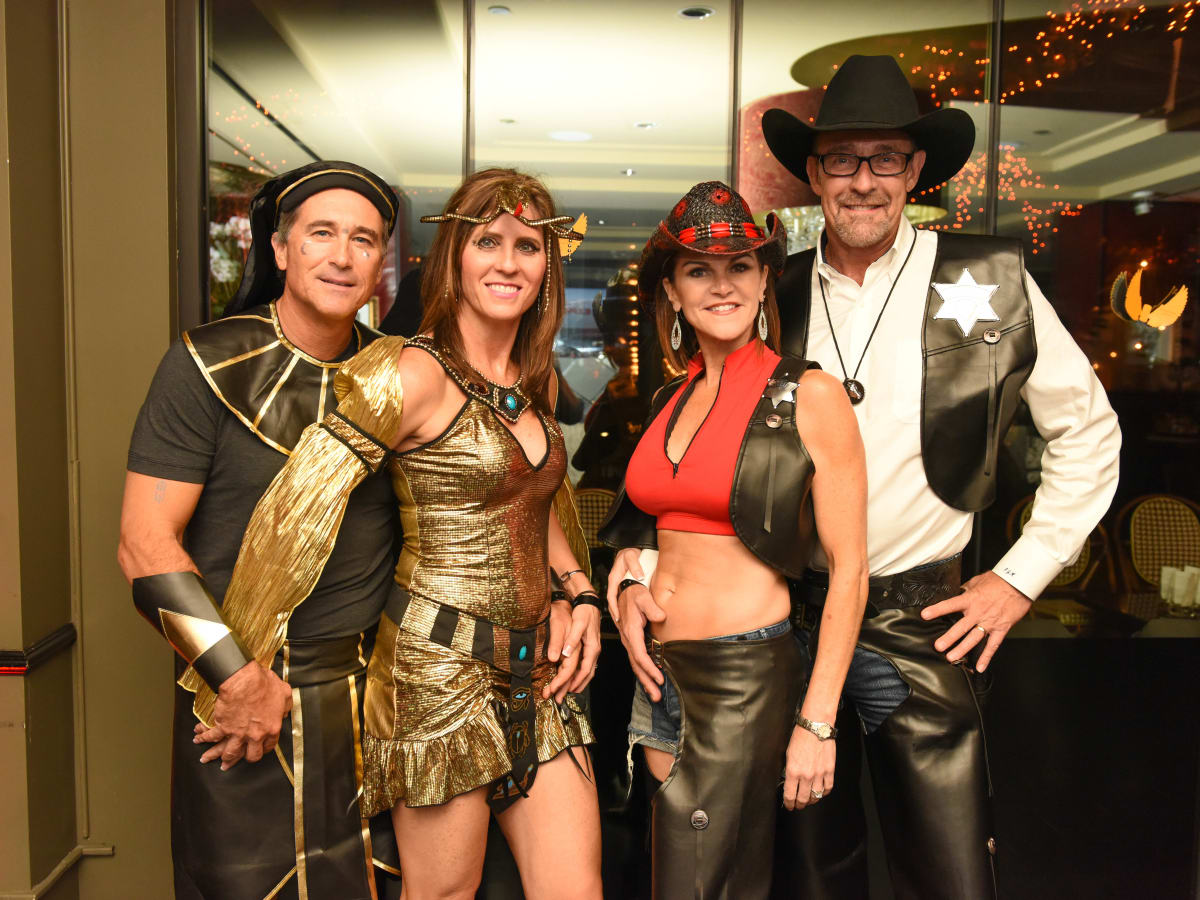 News, Shelby, Hotel ZaZa Halloween, Oct. 2015 Kenny and Sharon Nalepa, Roxanne and PJ Meyers