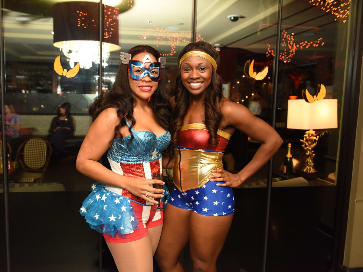 News, Shelby, Hotel ZaZa Halloween, Oct. 2015 Emily Sands, Danielle Fountaine