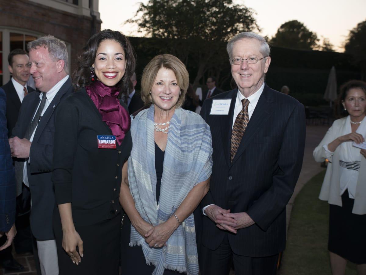 News, Shelby, Scenic Houston dinner, Oct. 3015,  Amanda Edwards, Claudia Williamson, Jonathan Day