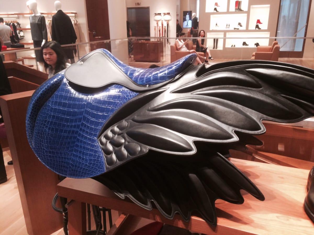 Hermes crocodile saddle