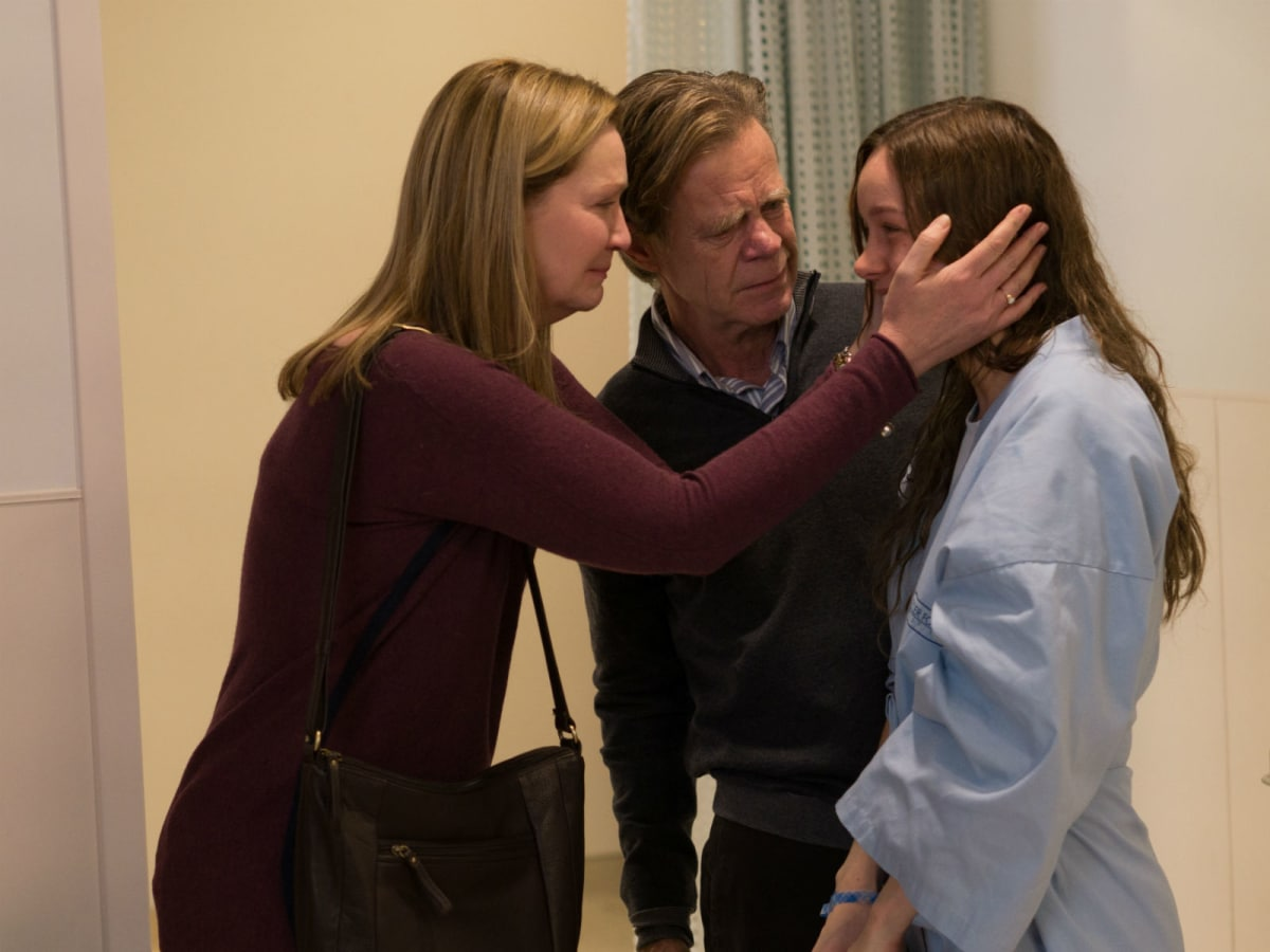 Joan Allen, William H. Macy, and Brie Larson in Room