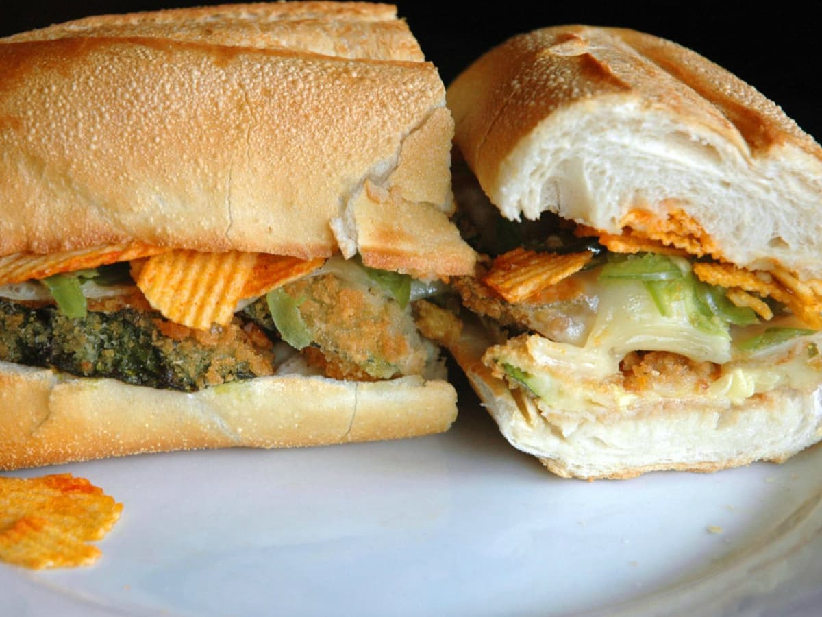 No. 7 Sub New York City zucchini parm sub sandwich 2015