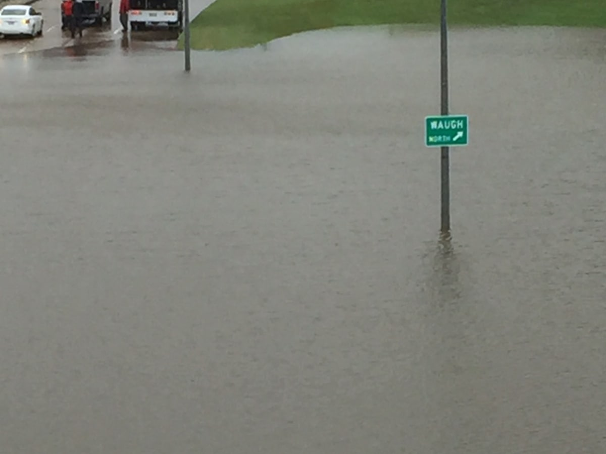 Flooding at Memorial and Waugh