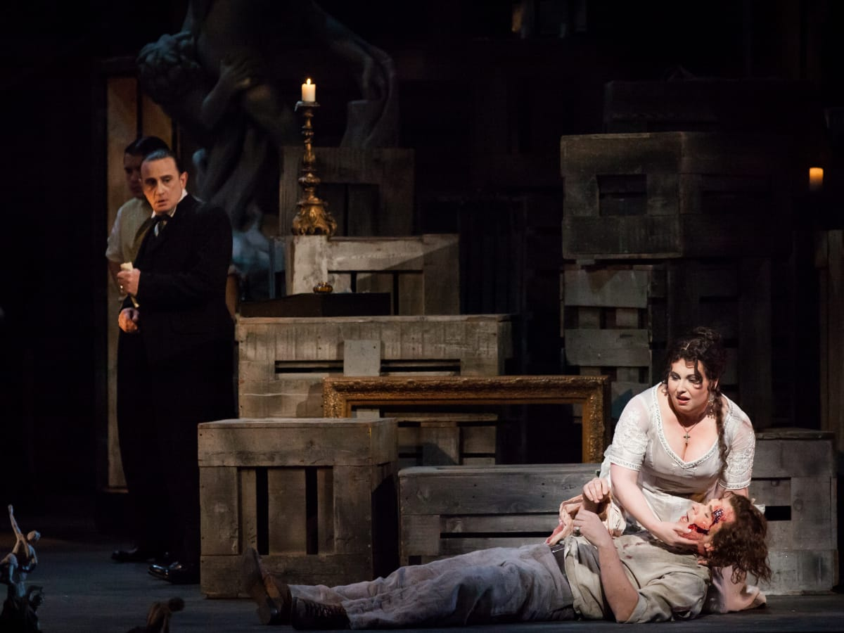 Houston Grand Opera production of Tosca,  Liudmyla Monastyrska,