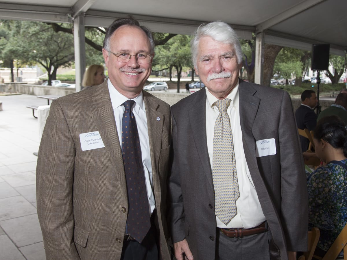 Houston Parks Board Luncheon Council Member Mike Laster; Andy Icken