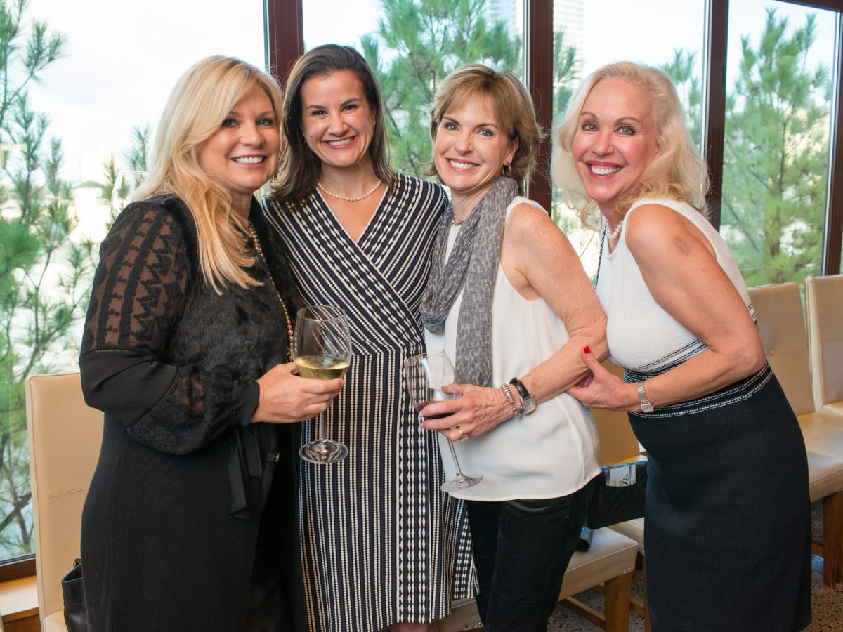 News, Shelby, Holiday Card kickoff, Oct. 2015,Terri Courtney, Erin McCarthy, Pam Jones, Lisa Miranda